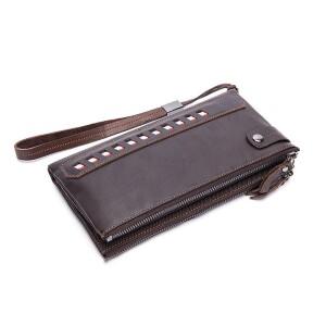 Практичный мужской клатч «Westal» компактного размера из коричневой натуральной кожи купить. Цена 1090 грн