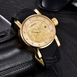 Культовые мужские часы «Benyar» с золотым драконом на циферблате купить. Цена 1680 грн