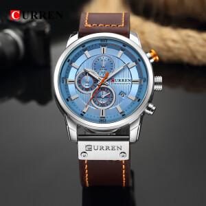 Великолепные мужские часы «Curren» с циферблатом нежно-голубого цвета купить. Цена 1490 грн