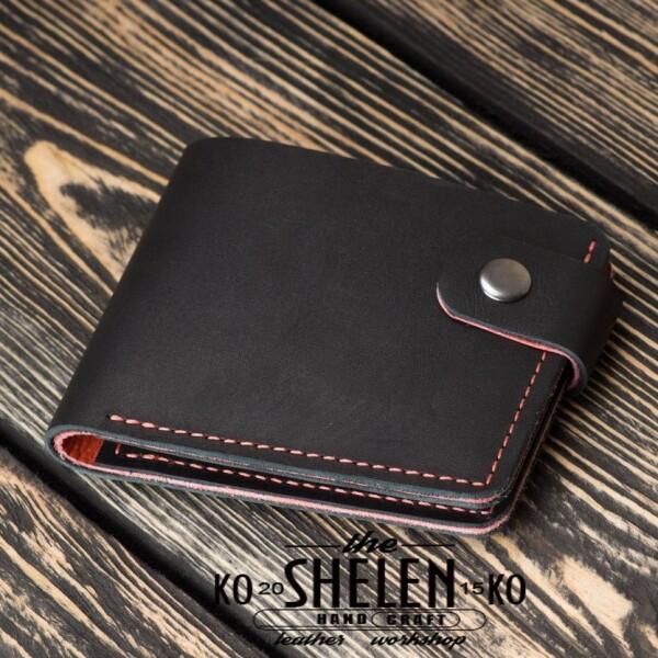 Эксклюзивный бумажник «Shelen» ручной работы из кожи «крэйзи хорс» купить. Цена 699 грн