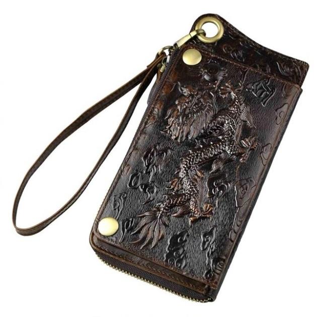 Эксклюзивный мужской клатч «Westal» из глянцевой натуральной кожи коричневого цвета купить. Цена 1080 грн
