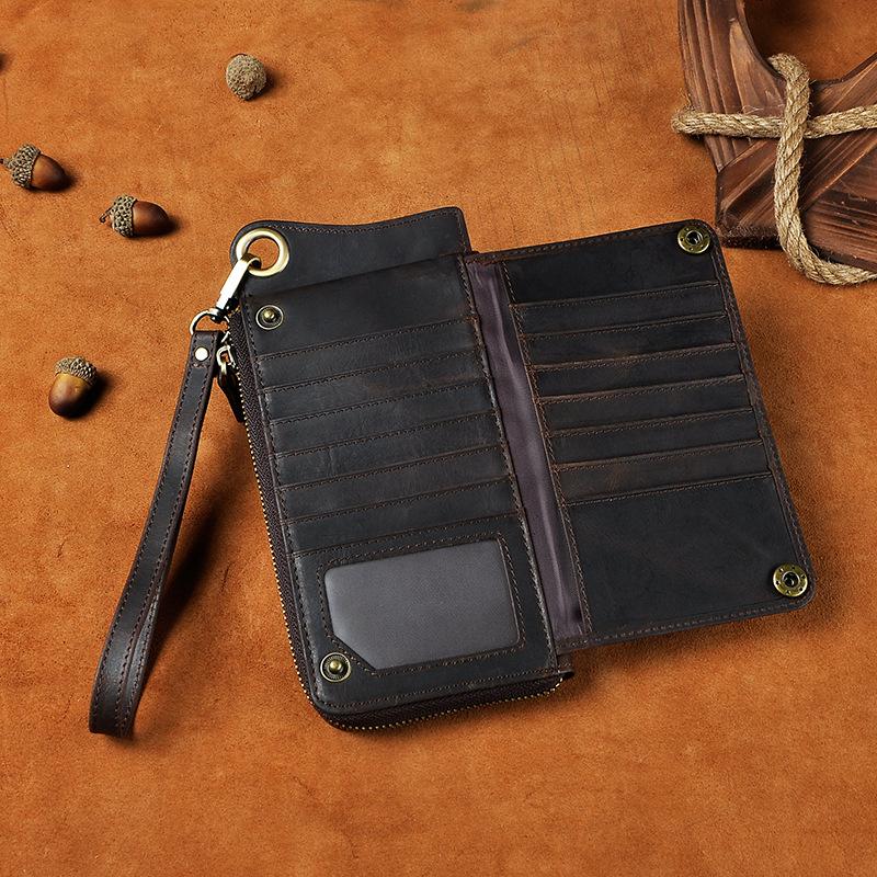 Компактный мужской клатч-кошелёк «Westal» шоколадного цвета из натуральной кожи фото 1