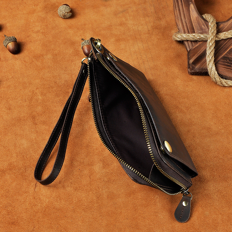 Компактный мужской клатч-кошелёк «Westal» шоколадного цвета из натуральной кожи фото 2