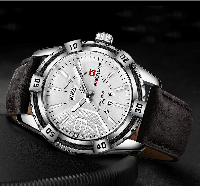 Стильные мужские часы «Naviforce» с кварцевым механизмом с полным календарём купить. Цена 1399 грн