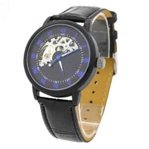 Чёрные механические часы «Winner» с ручным заводом купить. Цена 899 грн