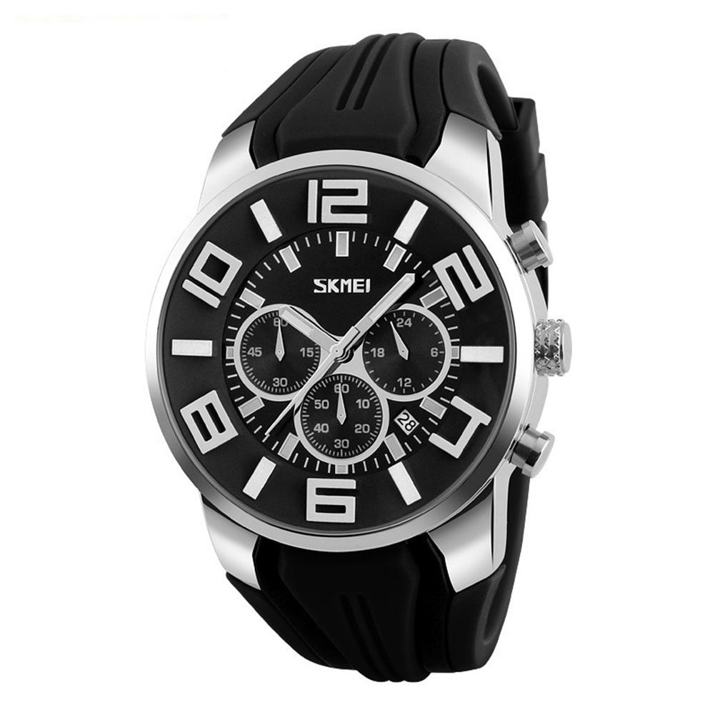 Большие спортивные часы «SKMEI» с чёрным силиконовым ремешком купить. Цена 1390 грн