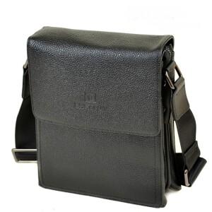 Глянцевая мужская сумка «Bretton» среднего размера из чёрной кожи флотар купить. Цена 1399 грн