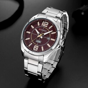 Солидные мужские часы «Curren» классического дизайна с датой и браслетом купить. Цена 1090 грн