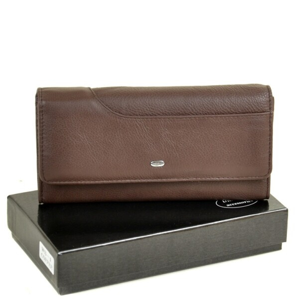 Строгий женский кошелёк «Dr.Bond» шоколадного цвета из мягкой кожи купить. Цена 699 грн
