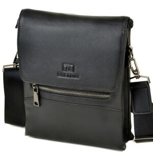 Модная мужская сумка «Bretton» из мягкой натуральной кожи с клапаном на магнитах купить. Цена 1899 грн
