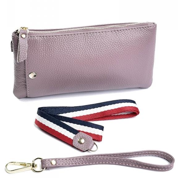 Компактный кошелёк-клатч «Baliya» из натуральной кожи сиреневого цвета купить. Цена 499 грн