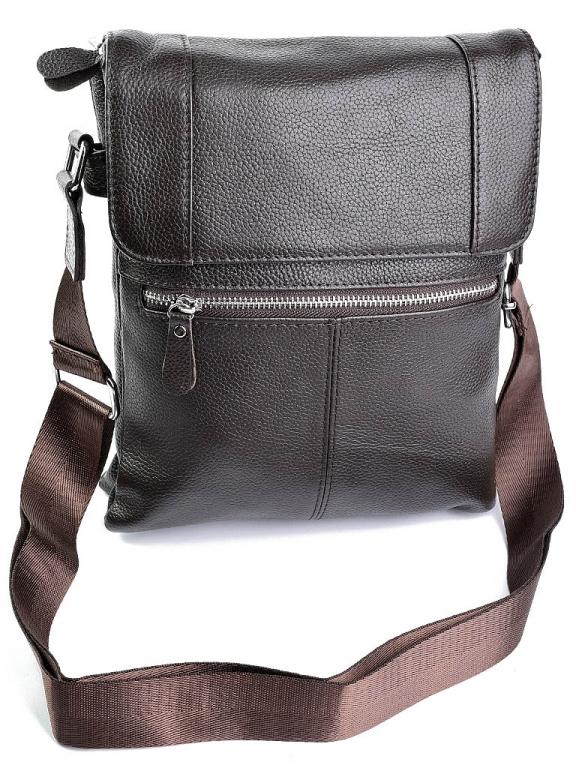 Крупная мужская сумка «Solana» из мягкой натуральной кожи шоколадного цвета купить. Цена 1590 грн