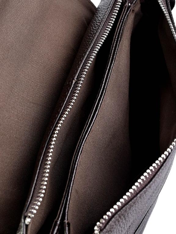Крупная мужская сумка «Solana» из мягкой натуральной кожи шоколадного цвета фото 2