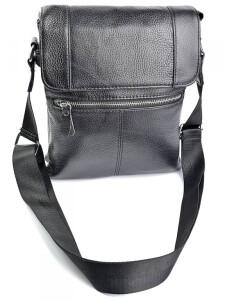 Практичная мужская сумка «Solana» из мягкой качественной кожи чёрного цвета купить. Цена 1590 грн