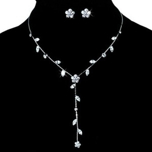 Очаровательный комплект «Милашка» с маленькими серёжками и длинным ожерельем фото. Купить