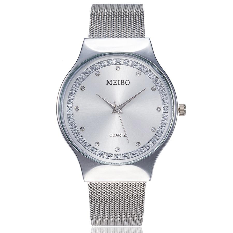 Прекрасные часы «Meibo» серебряного цвета с металлическим ремешком купить. Цена 335 грн
