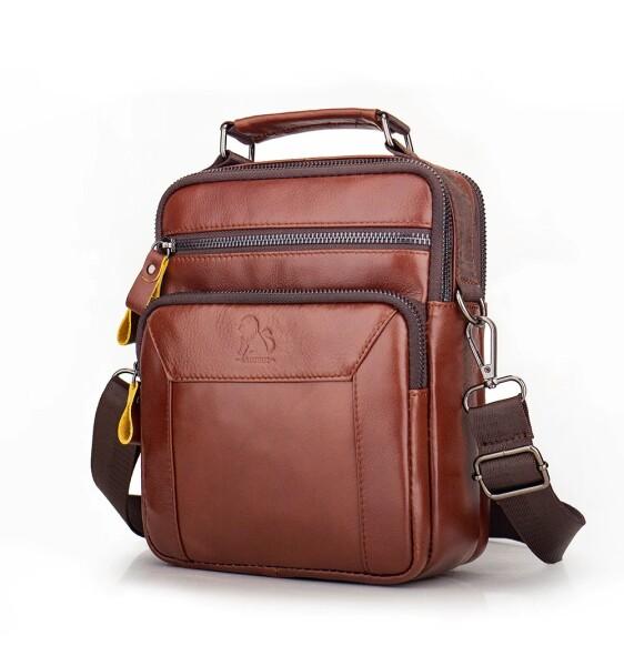 Отличная мужская сумка «Laoshizi Lousen» из гладкой кожи красивого цвета купить. Цена 1390 грн