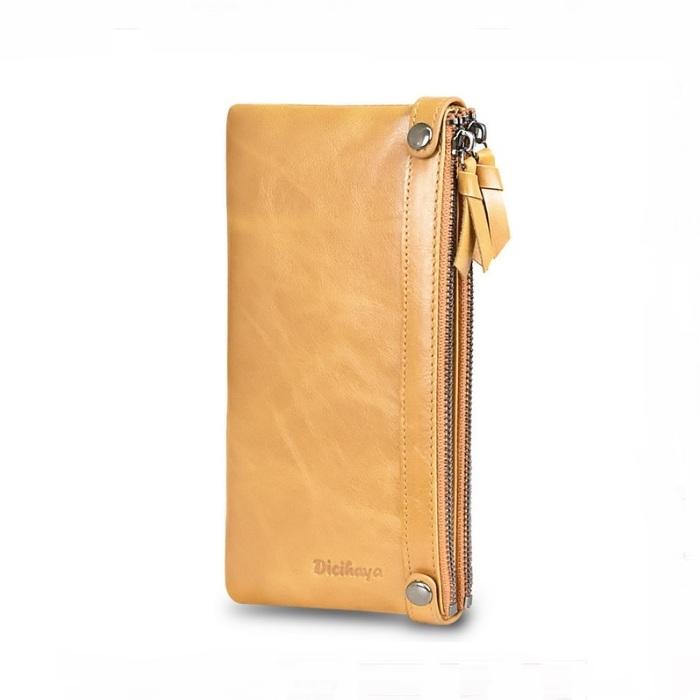Популярный кошелёк «Dicihaya» из гладкой тонкой кожи песочного цвета купить. Цена 899 грн