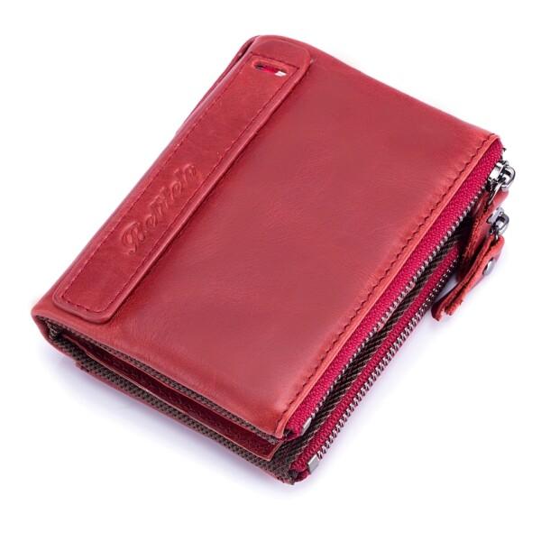 Вместительный кошелёк «Betiteto» из тонкой масляной кожи красного цвета купить. Цена 699 грн