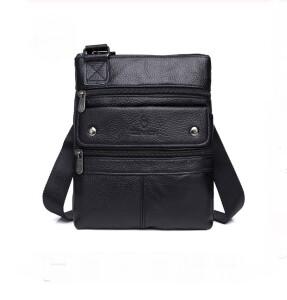 Тонкая мужская сумка «ZZnick» из натуральной кожи чёрного цвета купить. Цена 970 грн