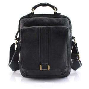 Вместительная мужская сумка «Cross Ox» из мягкой зернистой кожи чёрного цвета купить. Цена 1699 грн
