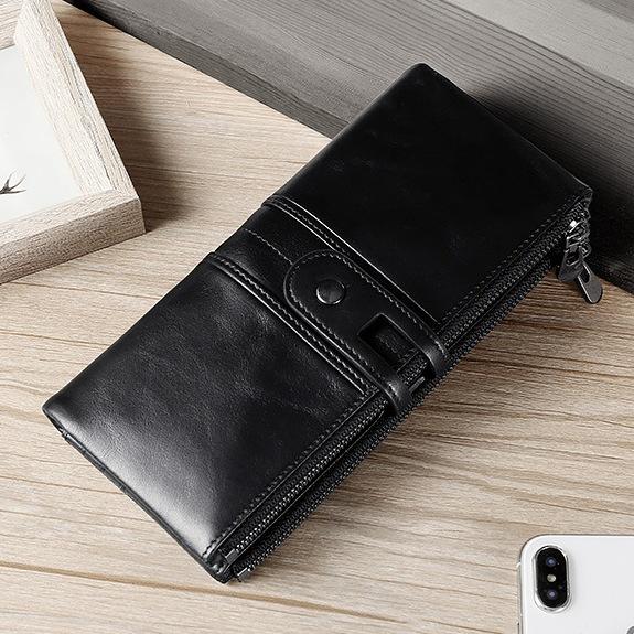 Функциональный кошелёк «Joyir» из глянцевой натуральной кожи чёрного цвета купить. Цена 899 грн