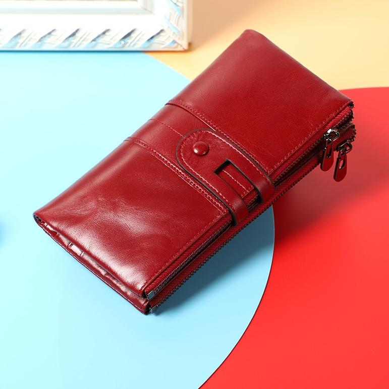 Практичный кошелёк «Joyir» из натуральной кожи ярко-красного цвета купить. Цена 899 грн