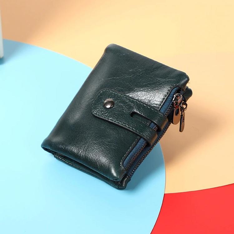 Универсальный кошелёк «Dicihaya» синего цвета из тонкой масляной кожи купить. Цена 785 грн