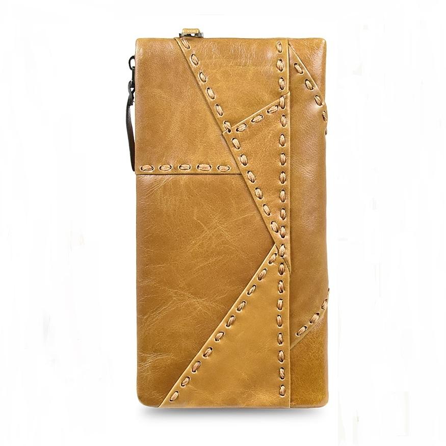 Брутальный мужской клатч-кошелёк «Dicihaya» из мягкой глянцевой натуральной кожи фото 1