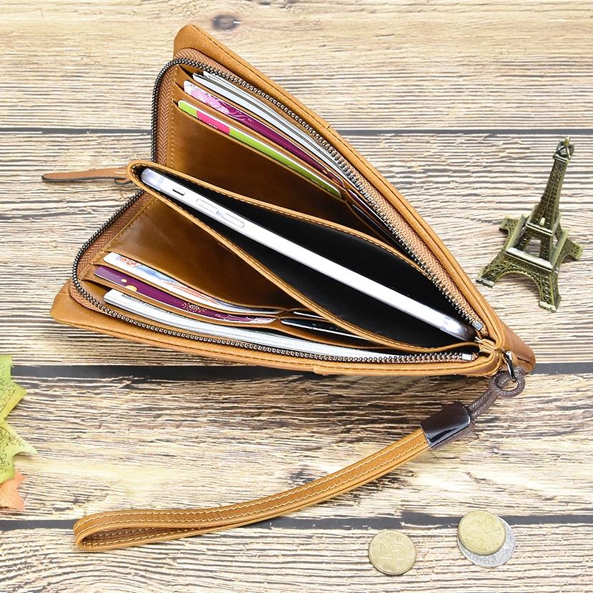 Брутальный мужской клатч-кошелёк «Dicihaya» из мягкой глянцевой натуральной кожи фото 2