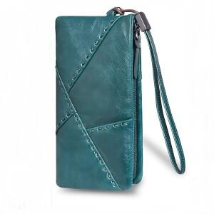 Красивый мужской клатч-кошелёк «Dicihaya» из натуральной кожи бирюзового цвета купить. Цена 899 грн