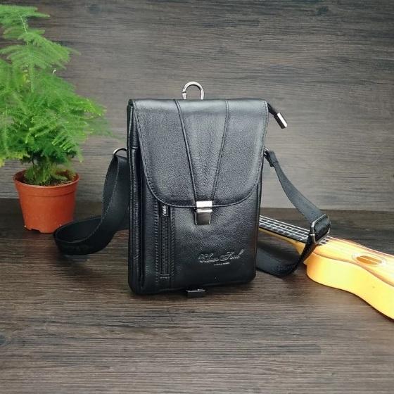 Маленькая мужская сумка «Cheer Soul» из мягкой кожи с клапаном на защёлке купить. Цена 1299 грн
