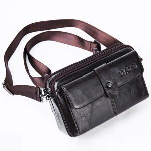 Практичная сумка-трансформер «YiAng» из глянцевой кожи коричневого цвета купить. Цена 1299 грн