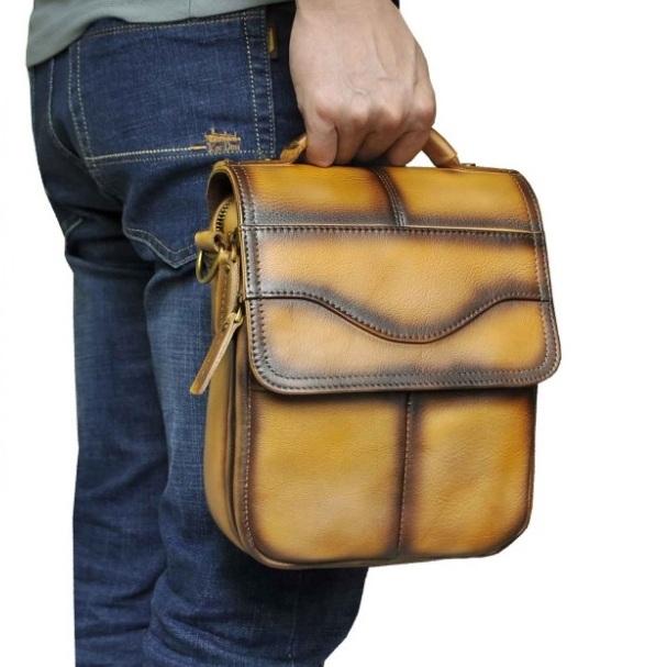 Шикарная мужская сумка «Westal» из натуральной кожи в редком эксклюзивном цвете купить. Цена 2190 грн