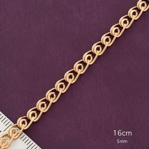 Тонкий браслет-цепочка с красивым плетением и настоящей позолотой фото. Купить