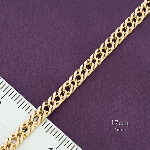 Изумительный браслет с плетением двойное ромбо и позолотой купить. Цена 185 грн