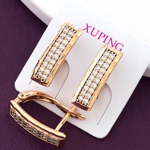 Модерновые серьги «Emporis» из медицинского золота от Xuping купить. Цена 165 грн