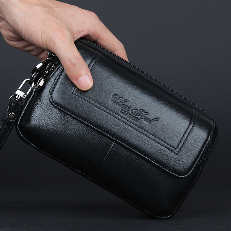 Компактный мужской клатч «Cheer Soul» из тонкой мягкой натуральной кожи купить. Цена 998 грн