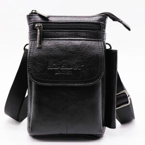 Отличная мужская сумка «Xiao Duo Li» маленького размера из мягкой масляной кожи купить. Цена 880 грн