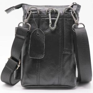 Отличная мужская сумка «Xiao Duo Li» маленького размера из мягкой масляной кожи фото 1