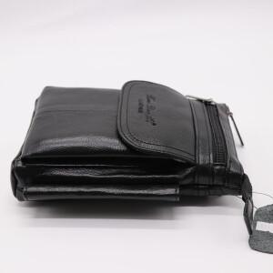 Отличная мужская сумка «Xiao Duo Li» маленького размера из мягкой масляной кожи фото 2