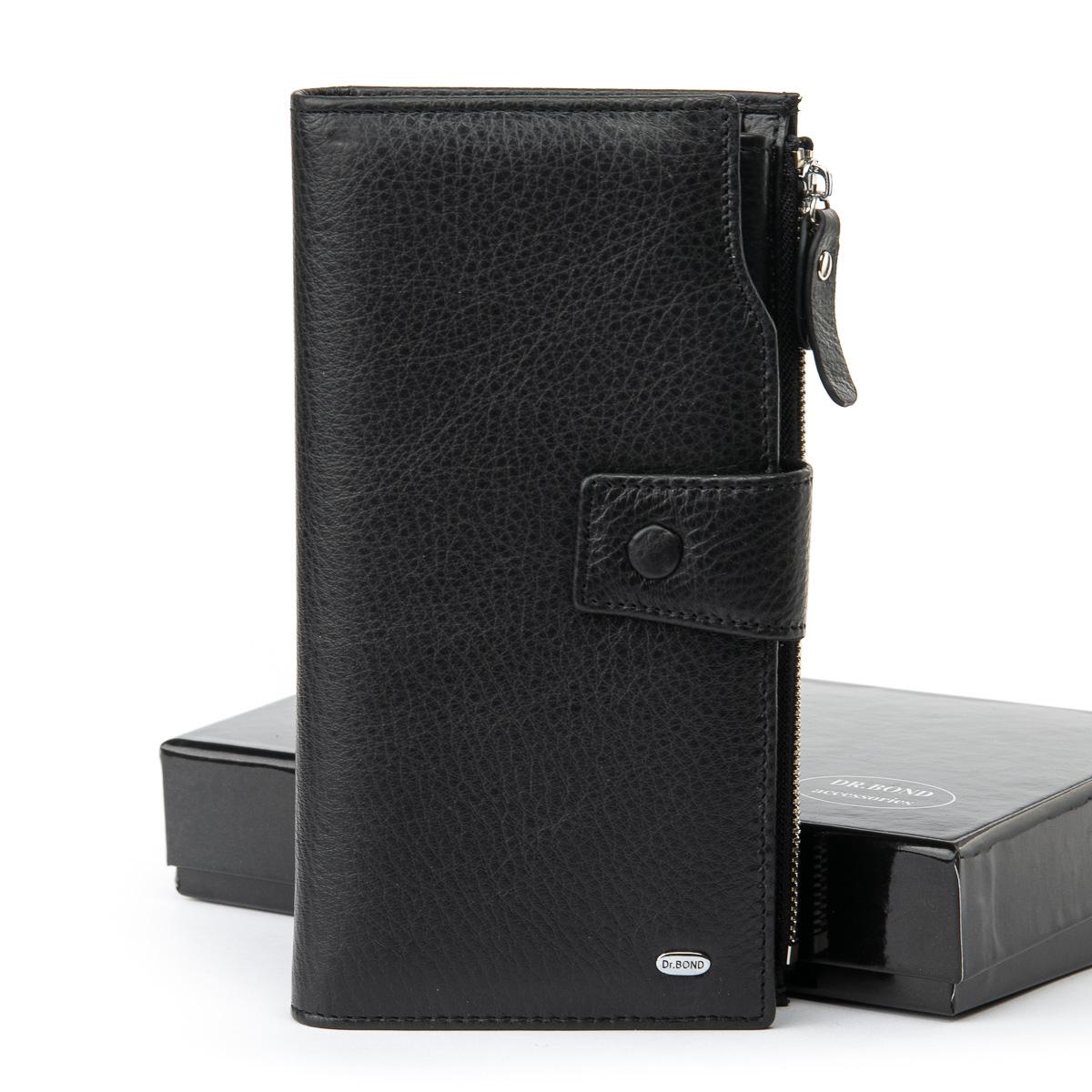 Отличный мужской клатч «Dr.Bond» из мягкой натуральной кожи чёрного цвета купить. Цена 995 грн