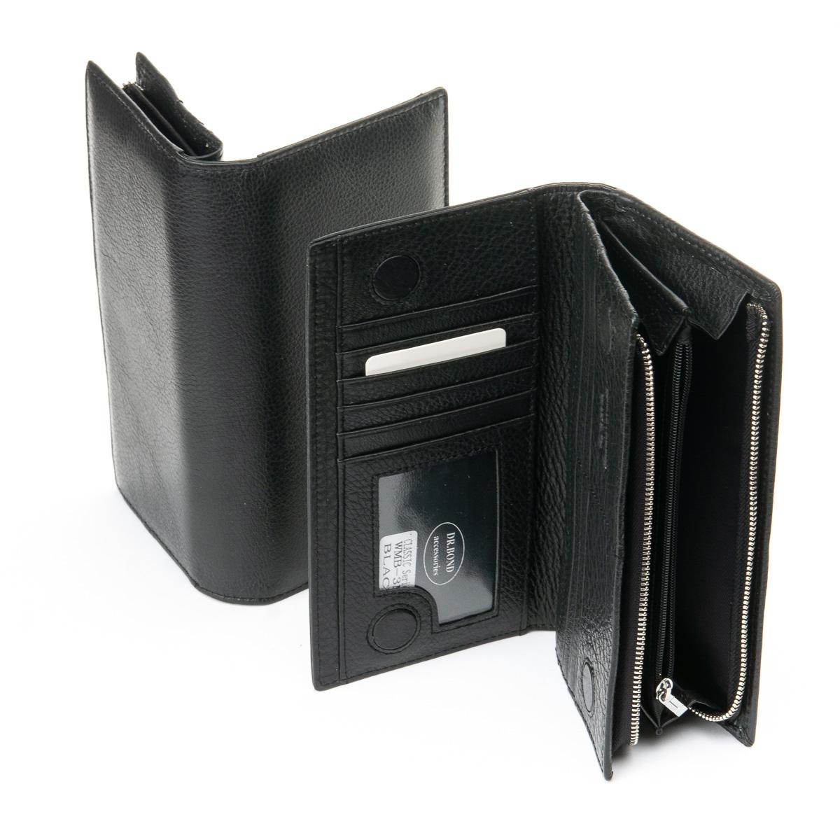 Модный мужской клатч «Dr.Bond» компактного размера из натуральной кожи фото 1