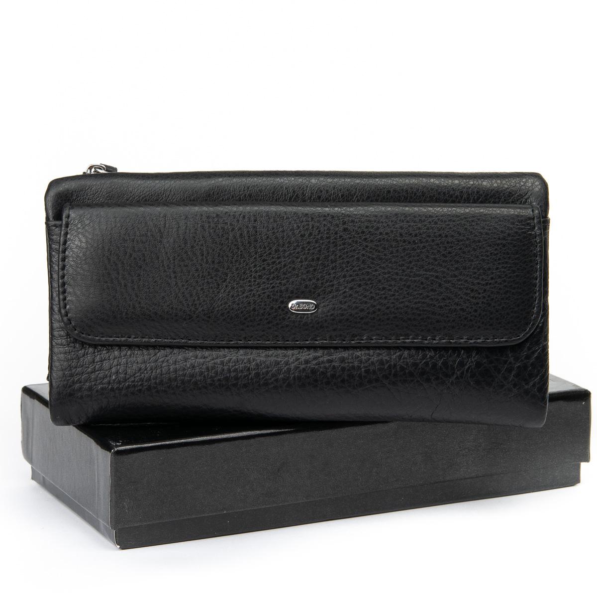 Маленький мужской клатч «Dr.Bond» из мягкой натуральной кожи чёрного цвета купить. Цена 899 грн