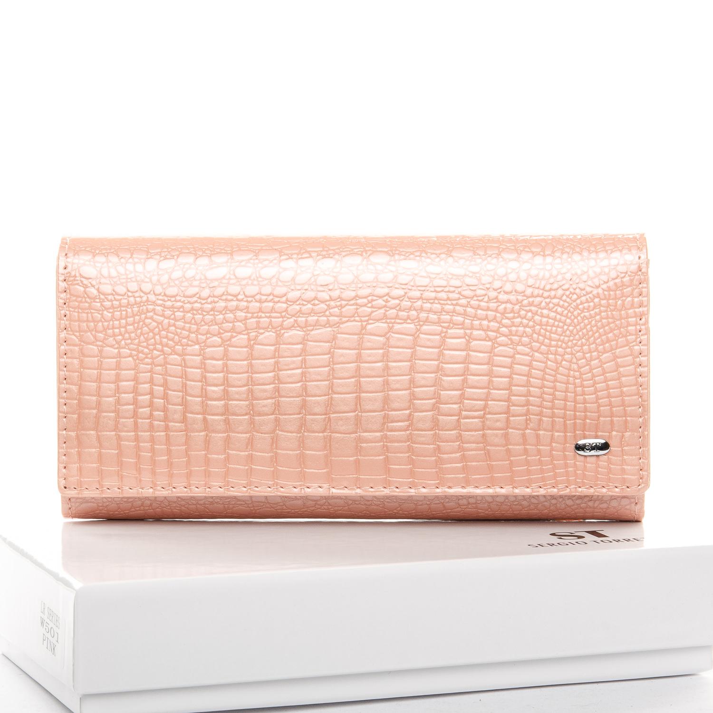 Прелестный кошелёк «Sergio Torretti» из лаковой кожи нежного розового цвета купить. Цена 665 грн