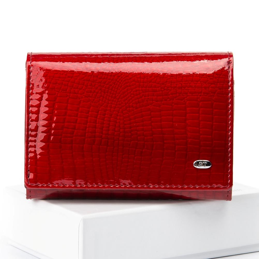 Небольшой кожаный кошелёк «Sergio Torretti» ярко-красного цвета купить. Цена 599 грн