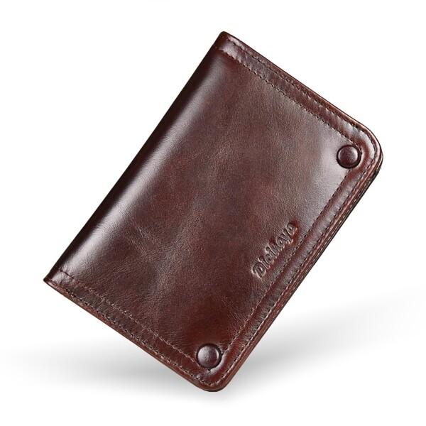Тонкий мужской бумажник «Dicihaya» из гладкой натуральной кожи купить. Цена 865 грн