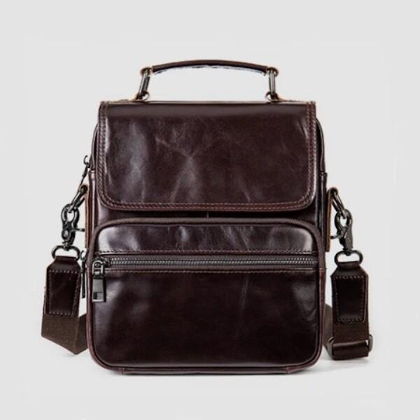 Роскошная мужская сумка «Westal» из гладкой масляной кожи шоколадного цвета купить. Цена 1885 грн