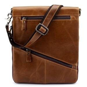 Тонкая мужская сумка-планшет «Westal» из плотной масляной кожи песочного цвета купить. Цена 1590 грн