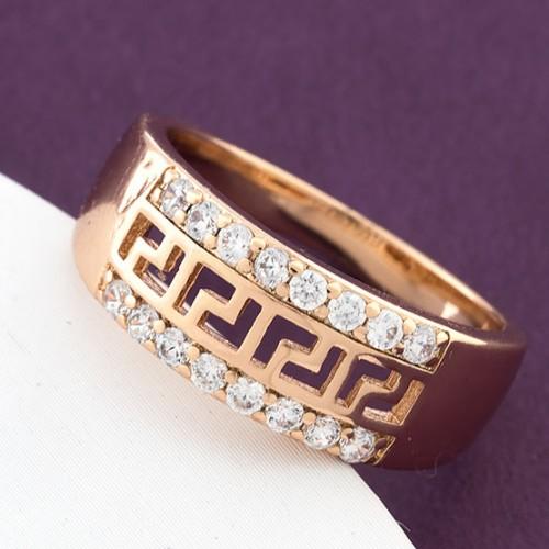 Благородное кольцо «Кавала» с греческой дорожкой в оправе с позолотой купить. Цена 175 грн